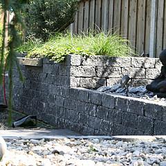 Roccia getrommeld 30x12x12cm Antraciet