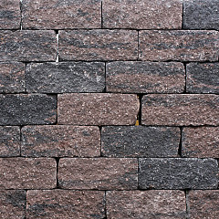 Roccia getrommeld 30x12x12cm Bruin/Zwart