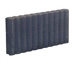Palissadeband Zwart 6x25x50cm rond