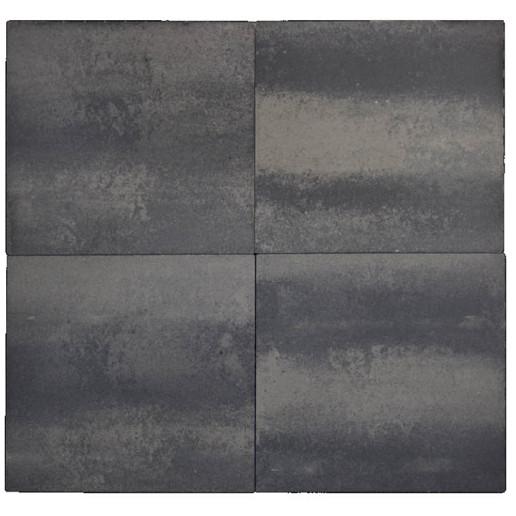 Terratops 60x60x4,7 Grijs/Zwart