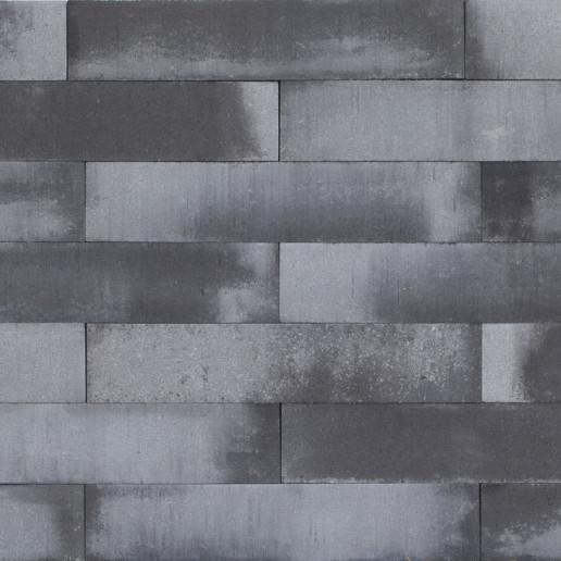 Patioblok strak 60x12x12 cm grijs/zwart