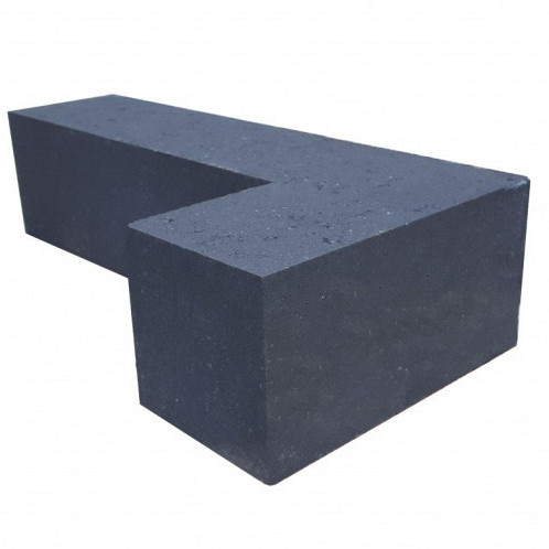 Patiohoekblok Antraciet 60x15x15cm strak