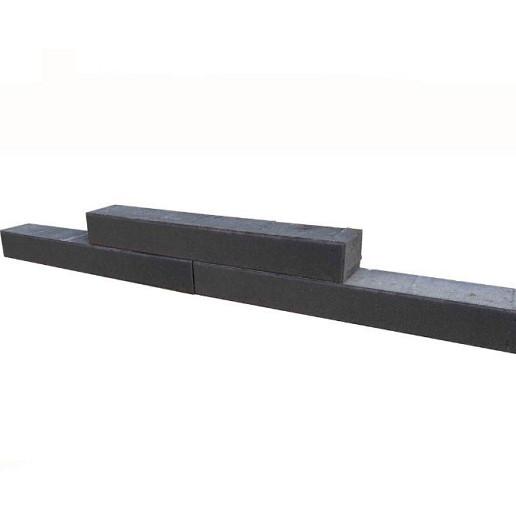 Patioblok Antraciet 60x12x10cm strak