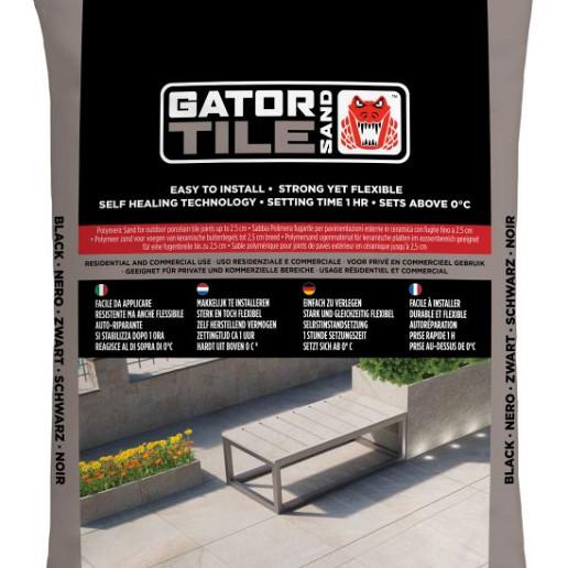 MBI Gator Tile Sand Zwart zak 16kg