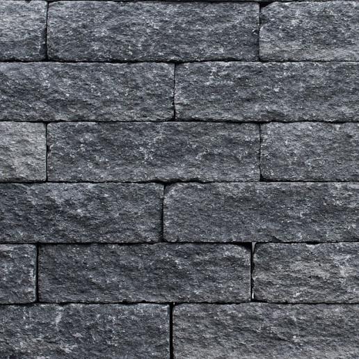 Patioblok getrommeld 60x15x15 cm grijs/zwart