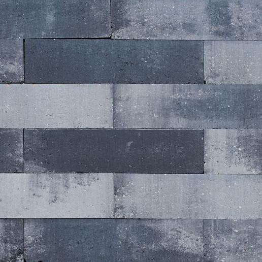Patioblok strak 60x15x15 cm grijs/zwart