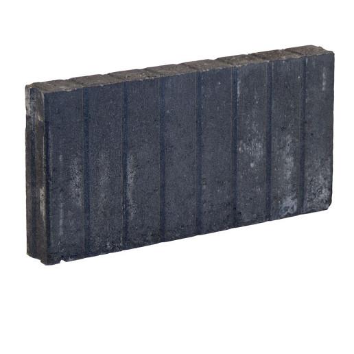 Palissadeband Zwart 6x25x50cm recht