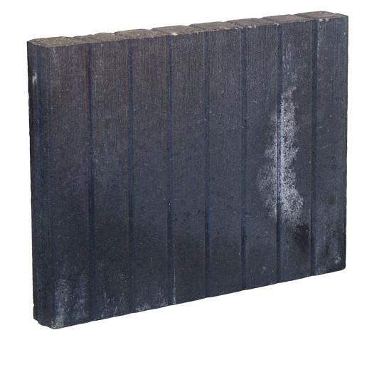 Palissadeband Zwart 6x40x50cm recht