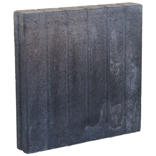 Palissadeband Zwart 8x50x50cm recht