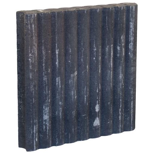 Palissadeband Zwart 8x50x50cm rond